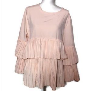Simply Couture Blush Pink Blouse, NWT, 3X